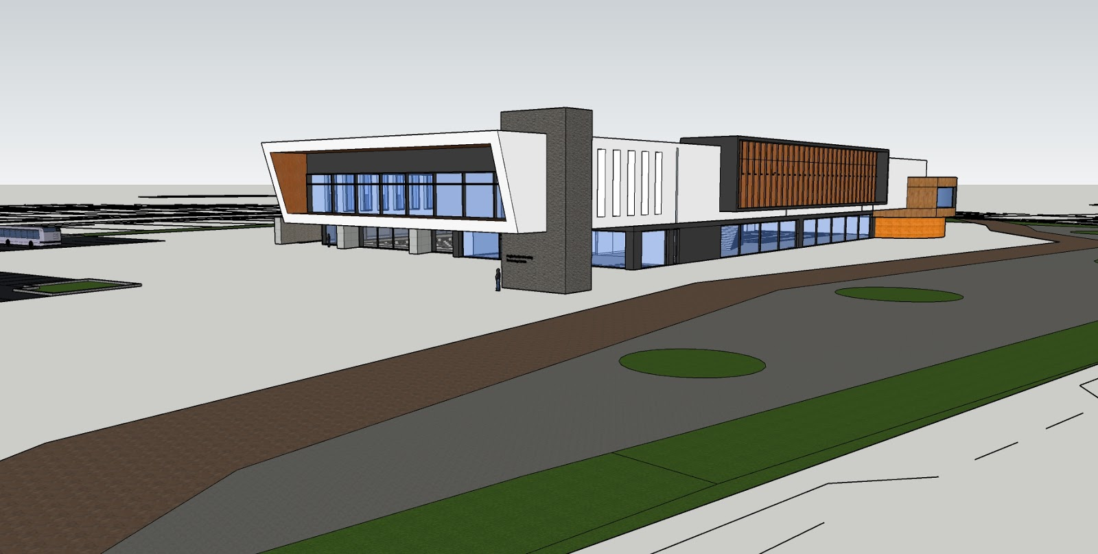 Swimming Pool Centre, Initial concept in SketchUp
