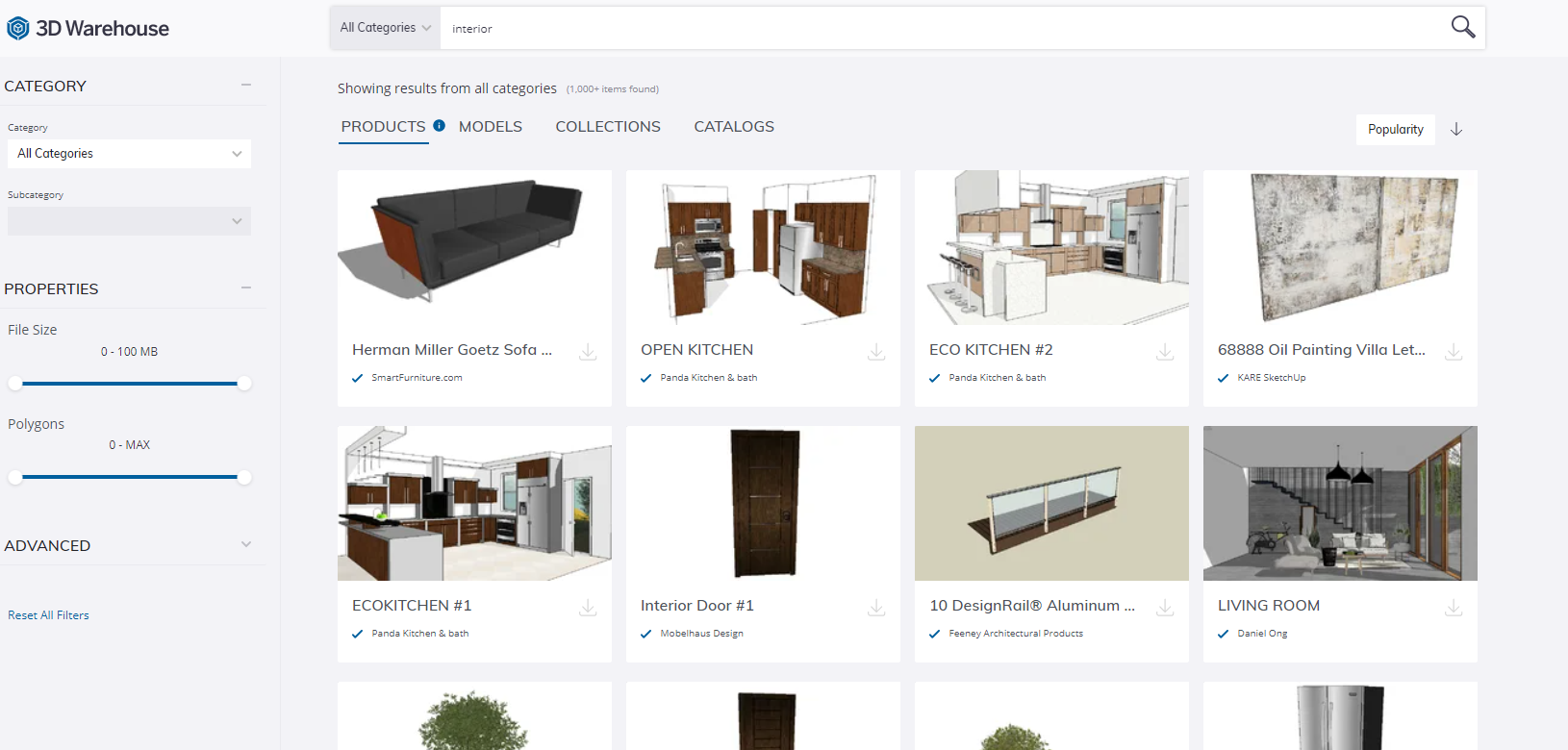 What You Can Find in the Sketchup 3D Warehouse
